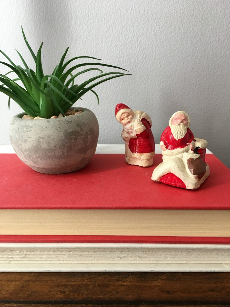 Two Vintage Santas that I found at a consignment shop