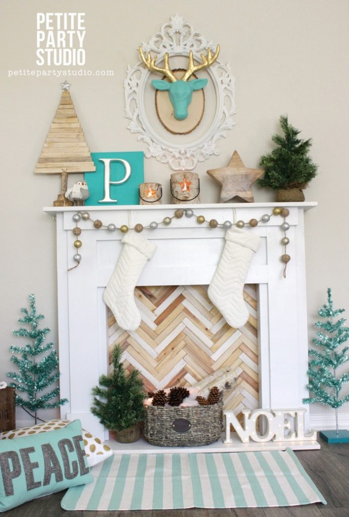 Faux Fireplace from Petite Party Studio