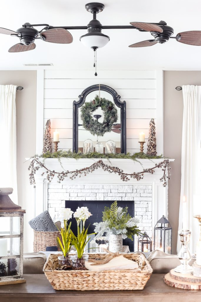 Shiplap on a fireplace by Blesser House