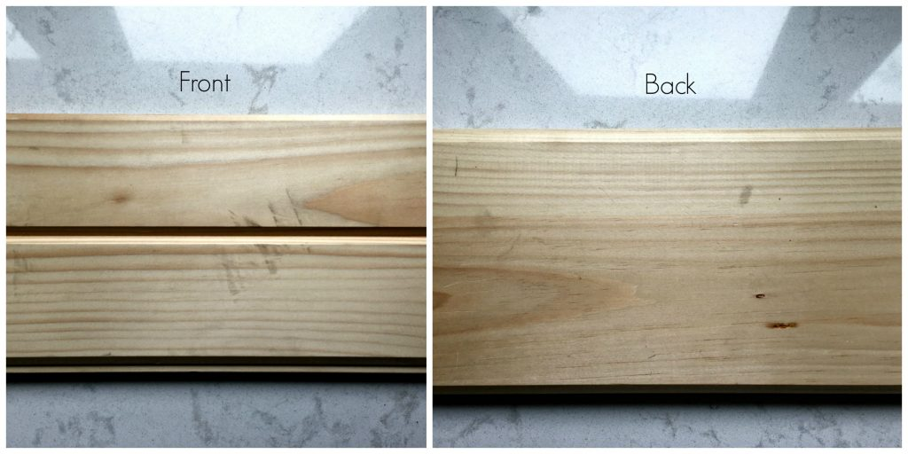 Shiplap front and back sides of the wood.