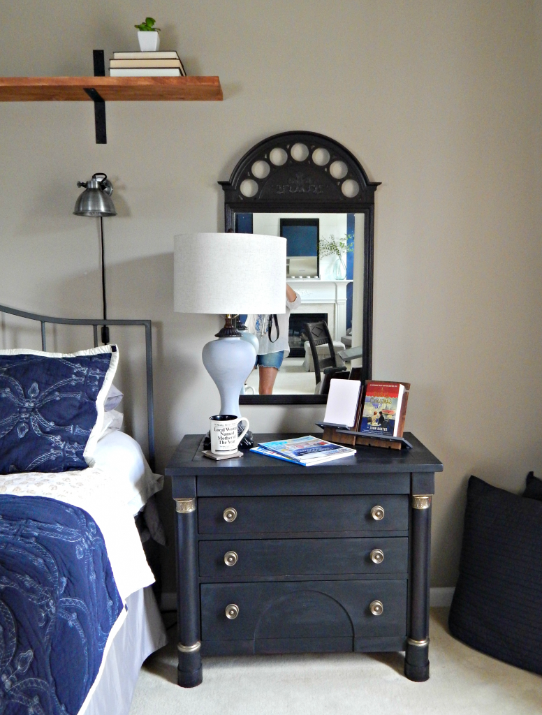 Nightstand painted with Amy Howard Paint basic black