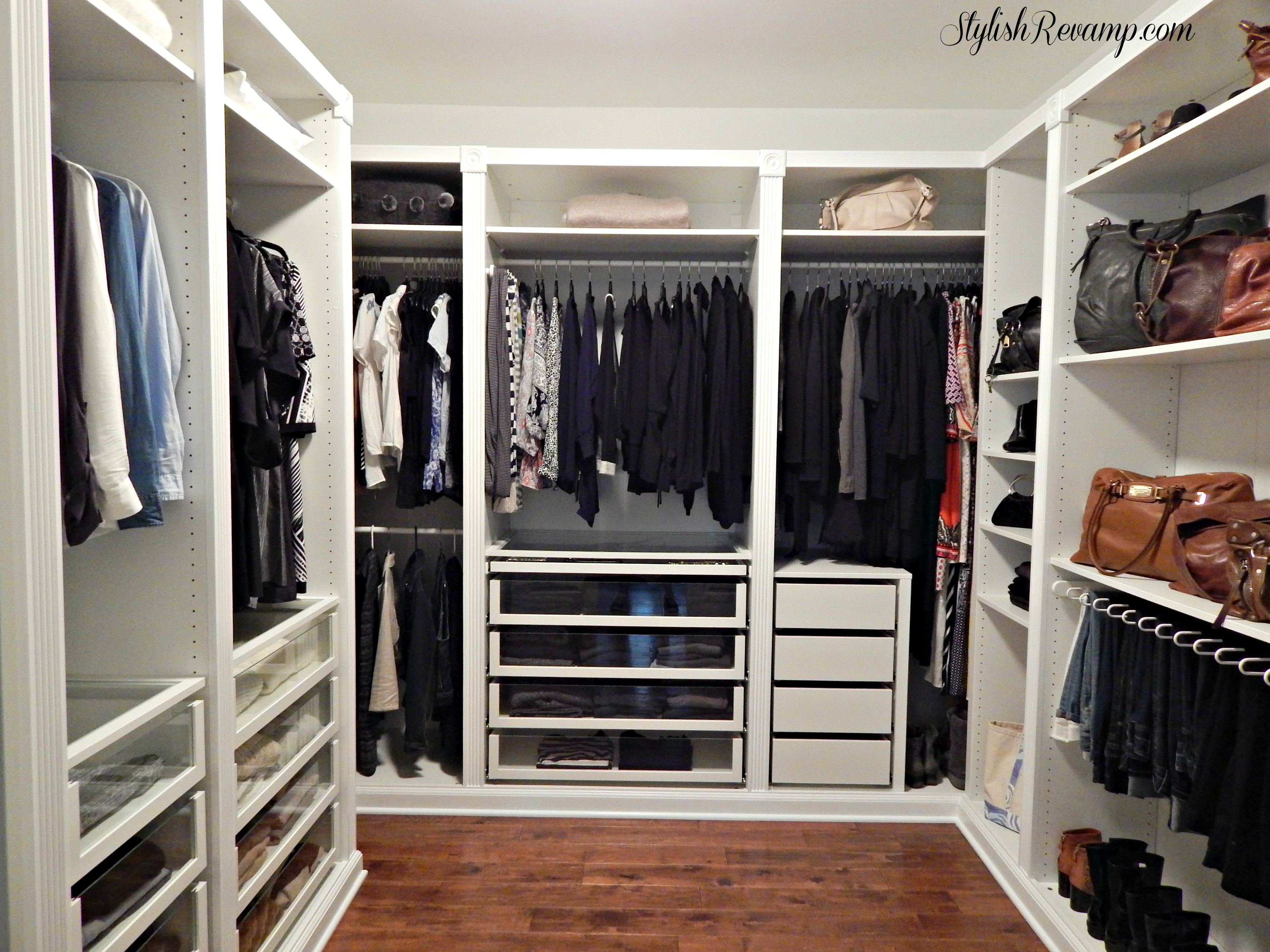 revamping my closet with the ikea pax wardrobe stylish. Black Bedroom Furniture Sets. Home Design Ideas