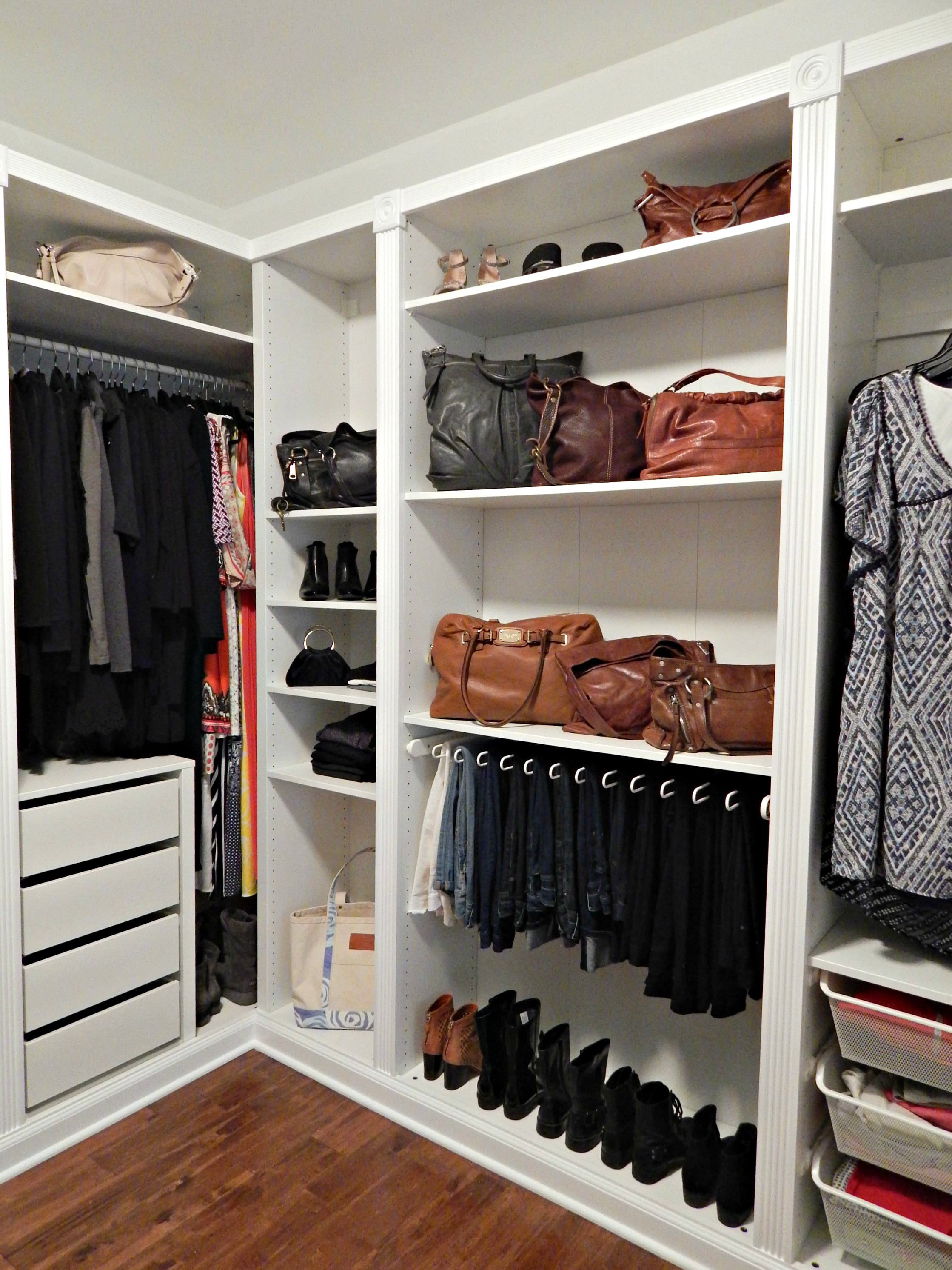 revamping my closet with the ikea pax wardrobe stylish revamp. Black Bedroom Furniture Sets. Home Design Ideas