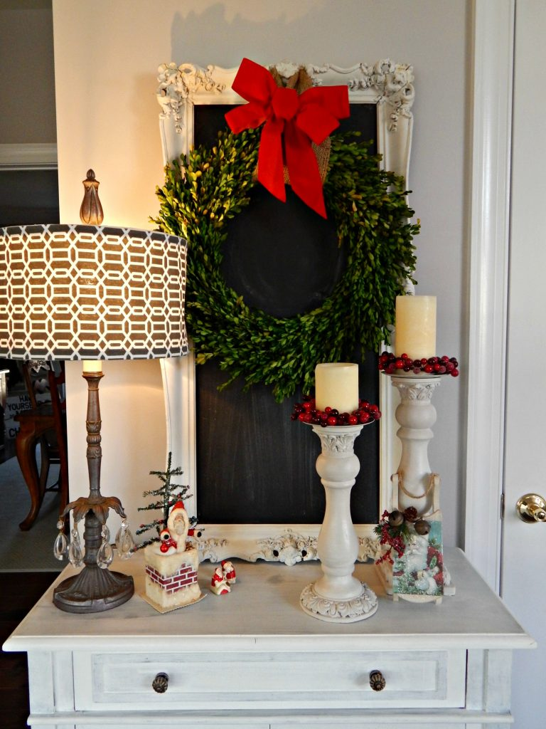Christmas Kitchen with Pops of Red