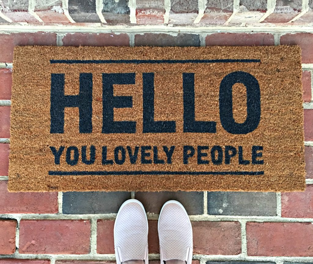 Lovely door mat