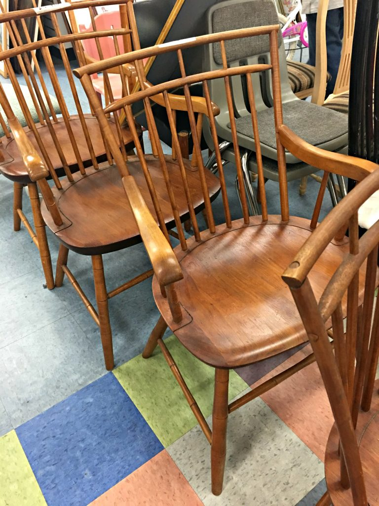 At Goodwill getting ready to snag these Windsor Birdcage Chairs