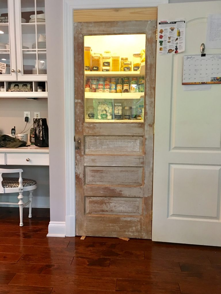 Vintage Door with added height to fit existing door frame